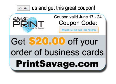 PrintSavage Save $20 Coupon